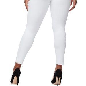Good American Jeans - Good American good legs crop cascade hem white